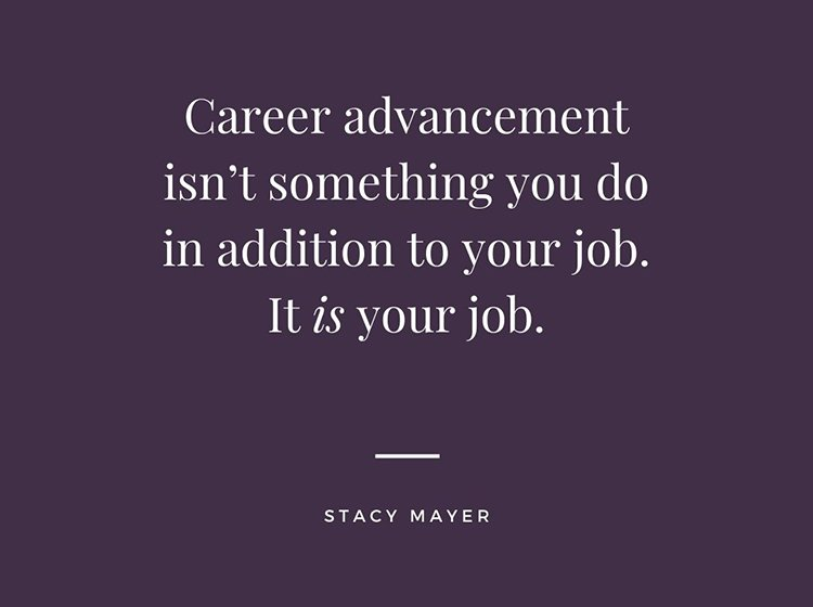 Career Advancement advice.